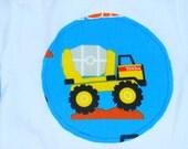 Truck appliqued onesie, size 3-6 months