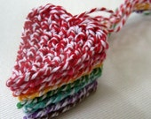 rainbow of baker's twine heart ornaments (set of 8 perfect for mini tree)