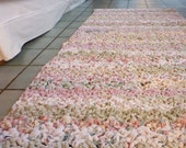 CUSTOM hallway runner rag rug from upcycled fabrics (made to order choose your colors)