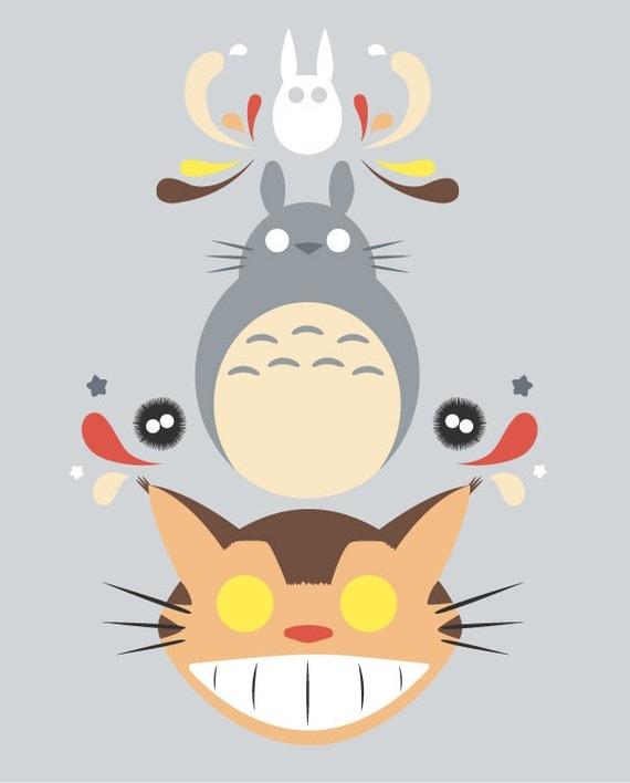 My Neighbor Totoro Digital Illustration Print