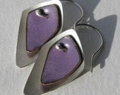 Purple Flame Earrings