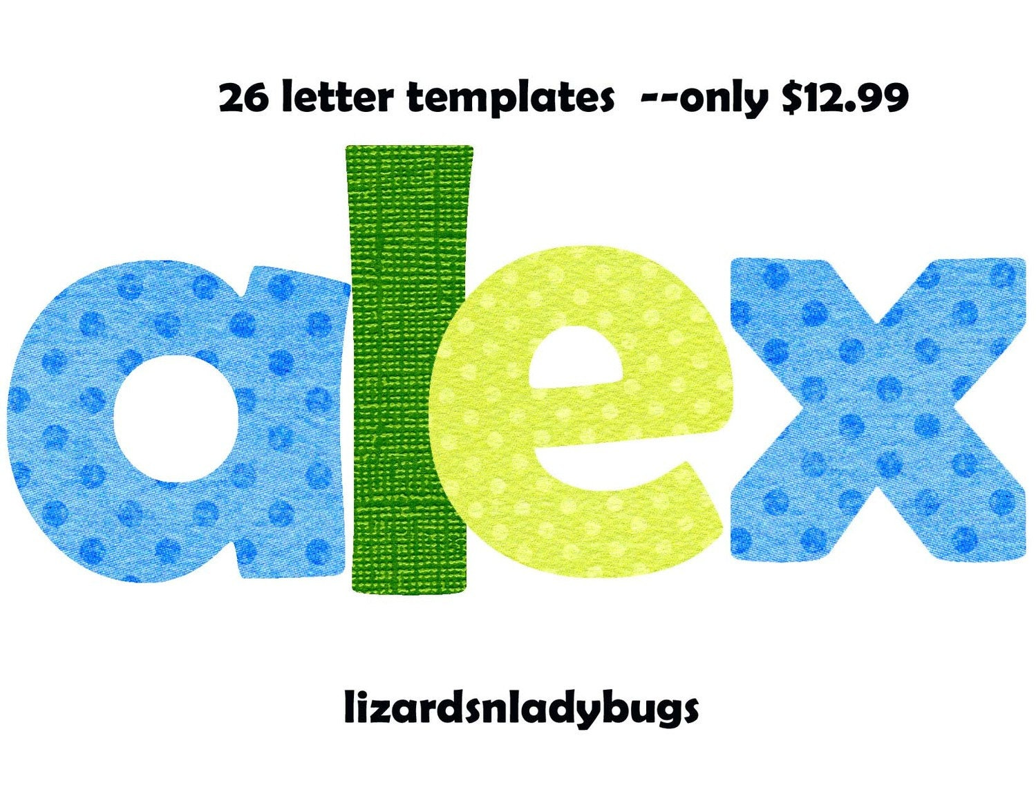 letter alphabet template applique pattern by lizardsnladybugs