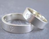Custom wedding band - Sterling silver ring with your inscription