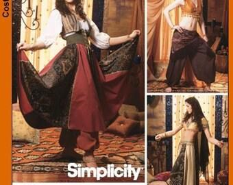 Simplicity 5359 Bellydance  Skirt, Harem Pants, Vest Plus Size