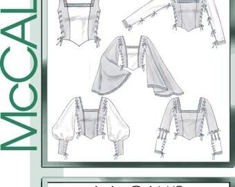 McCall's Pattern 4696, Renaissance Top Pattern,Gothic Top, Ren Faire Size 16-22 Plus Size Out of Print