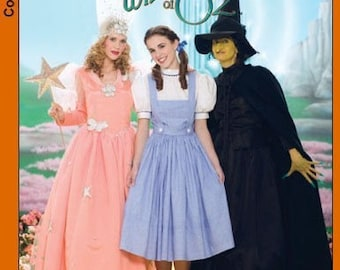 Sewing Pattern-Simplicity 4136-The Wizard of Oz, Good Witch, Bad Witch , Dorothy size 6-12