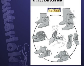 Diy Sewing Pattern-Butterick 5233-Moccasins shoes and boots