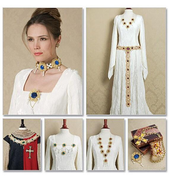 Diy Sewing Pattern Butterick 5508 Renaissance Costume Jewelry