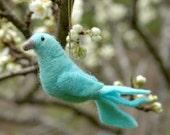 Aqua Dove - Needle Felted Ornament