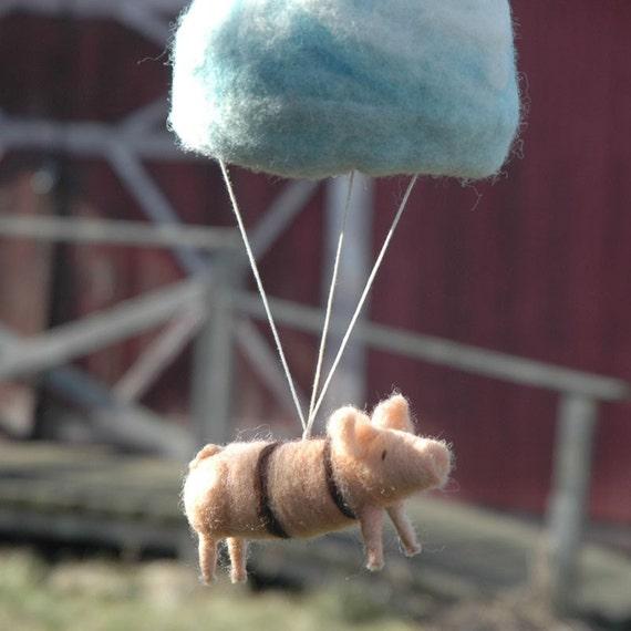 Parachuting Pig Mobile