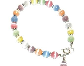 Arcoiris Cat Eye Bracelet, Easter Children Bracelet