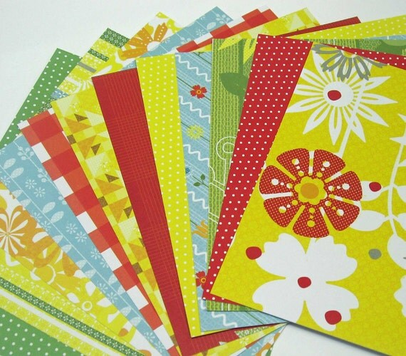 Lemon Drops Collection Paper Pack - Pack of 24 6x6 papers