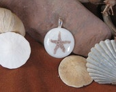 White Sand Starfish Pendant