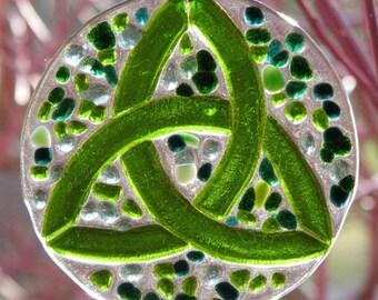 Green Celtic Knot Suncatcher