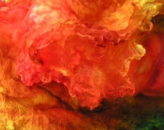 Mawata Silk Hankies VEGGIE TALES Hand Painted Knitpack 42 grams Introducing our Silk Garden Series September Phat Fiber Box Feature