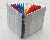 Rainbow in lace handbound coptic bound book