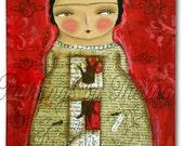 Las Raices de Frida -Mixed Media Painting - Original painting by Thelma - Canvas