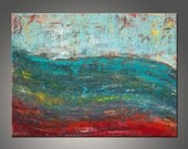 Original Modern Abstract Painting - Title, Round Planet - 24x30 Inches