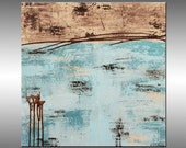 Original Paintings Acrylic Abstract Modern Fine Art Canvas Contemporary - Title, Lithosphere 28 - 24x24 Inches - HWinfield