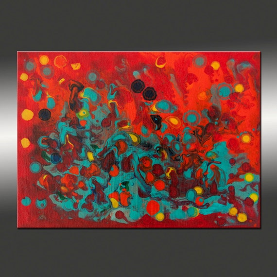 Title, Tropical Haze 5 - 9x12 Inch Original Abstract Painting, Modern, Contemporary, US Shipping Included