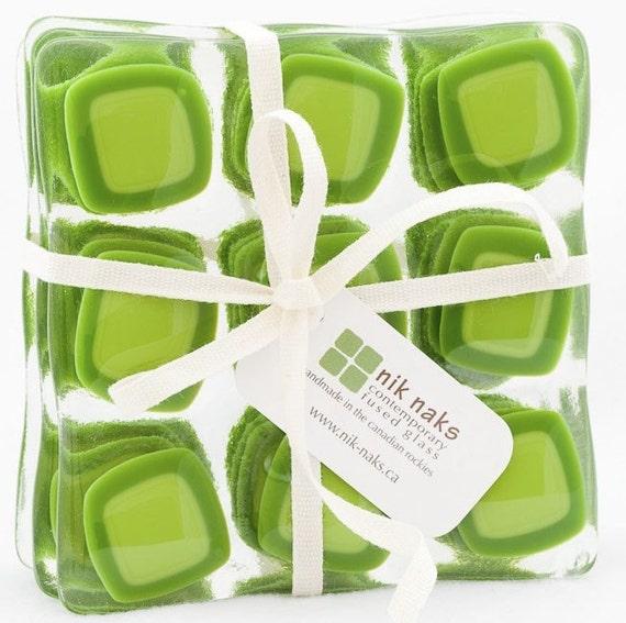 Green Square Coasters