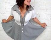 Vintage Houndstooth Swing Dress