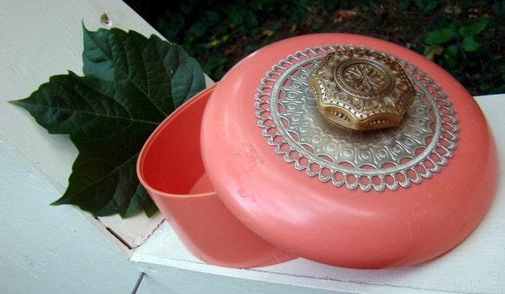 SALE Coral Vintage Avon Duster