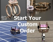 Let me Custom Design your Engagement Ring, Wedding Ring or other Jewelry - Purchase this Link to Get Started