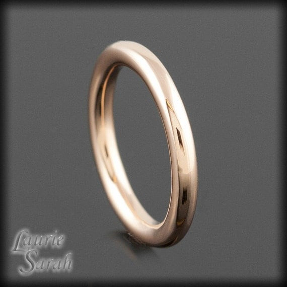 14kt Rose Gold Pipe Band - Woman's Wedding Band - LS1951