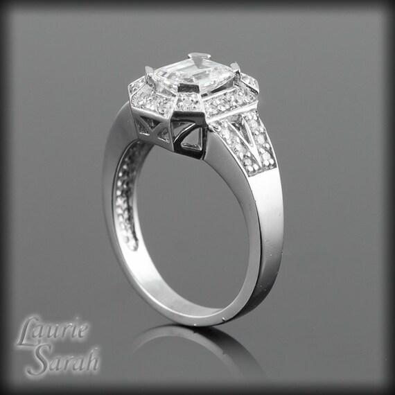 emerald cut engagement ring 1 5 carat emerald cut