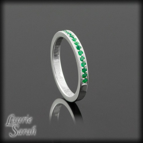 genuine emerald mothers ring may birthstone by