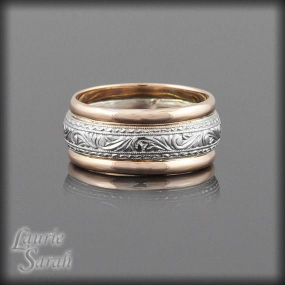 Man S Hand Bands: Intricately Hand Engraved Man's Wedding Band By