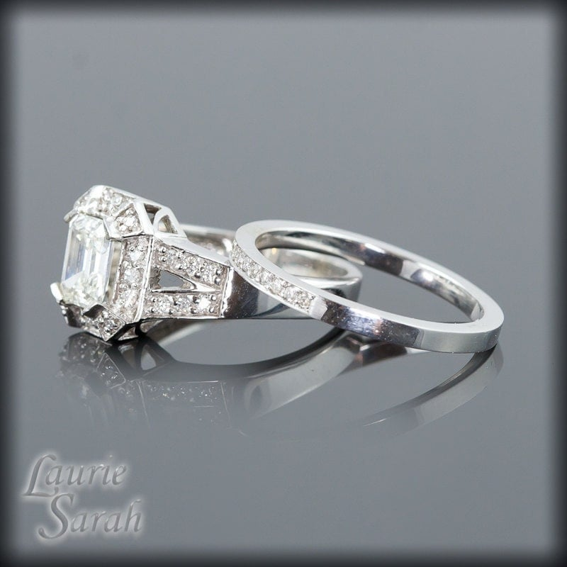 engagement ring emerald cut by lauriesarahdesigns