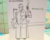 Anti-Age - letterpress birthday greeting