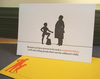 Milkman - letterpress father's day greeting