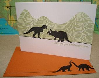 Extinct Love - letterpress love greeting
