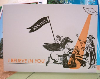 Believe in You - letterpress greeting