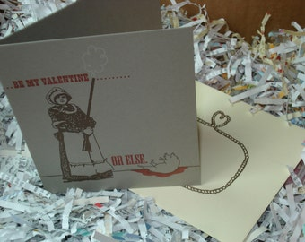 Or Else - letterpress valentine