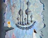 children blue gray pale violet fantasy fairytale dreamy