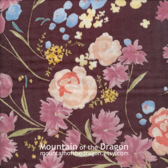 Last Piece - nani IRO Fabric - 2011 Fuccra in Brown - Japanese Double Gauze - 7/8 Yard