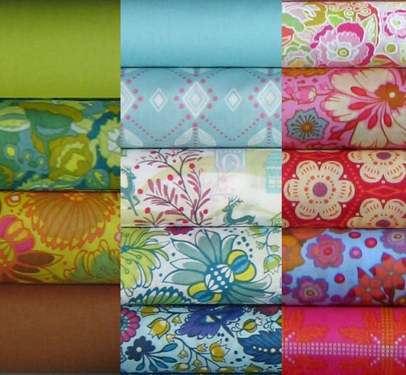 Last One - Anna Maria Horner Fabric - Little Folks Voile - 15 Fat Quarter Bundle