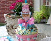 Birthday Girl Cupcake Trinket Box