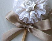 RESERVED Ivory Cupcake Toppers and Wreath Toppers