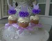 Purple Ballet Tutu Cupcake Toppers for Birthday Party
