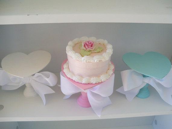 Valentine Cupcake Stands Set of Three