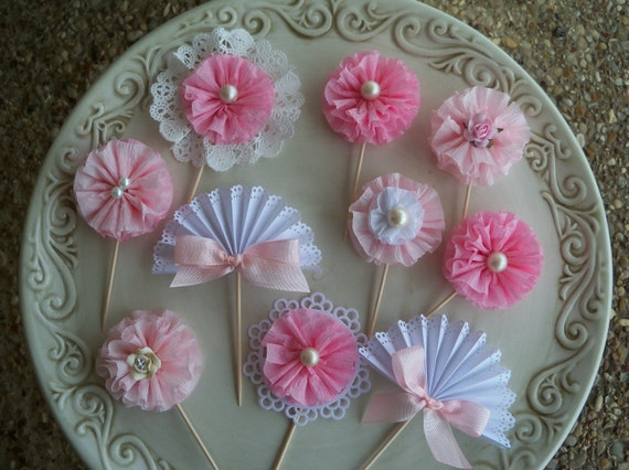 Cupcake Topper Sampler Set of 10