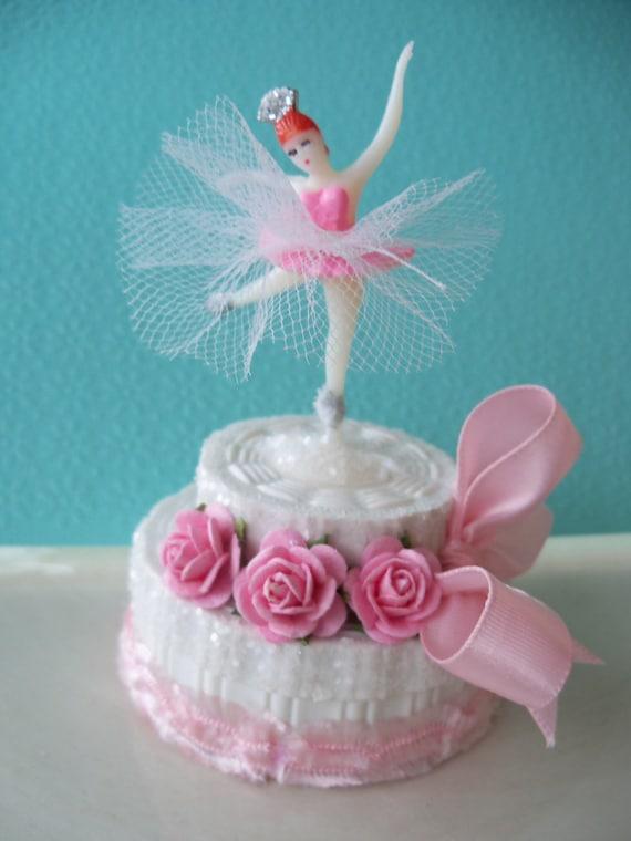 Ballerina birthday cake trinket box for ballet party tvat for Ballerina cake decoration