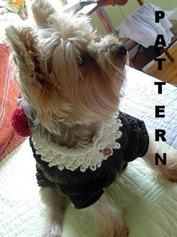 ROOT BEER FLOAT Original Dog Sweater Knitting Pattern / Precious