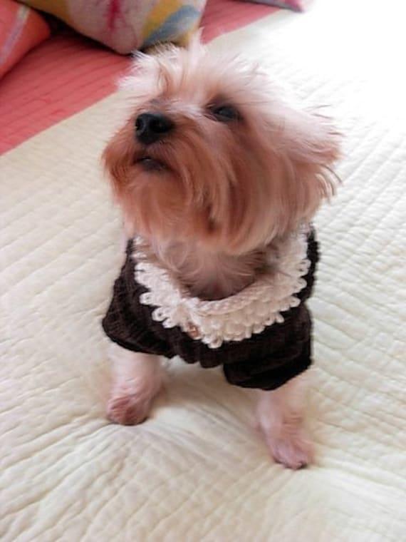 Dog Sweater Knitting Pattern Circular Needle : ROOT BEER FLOAT Original Dog Sweater Knitting Pattern / NEW