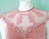 Sweet and Sensual Muted Pink Lace Ruched Evening Gown s